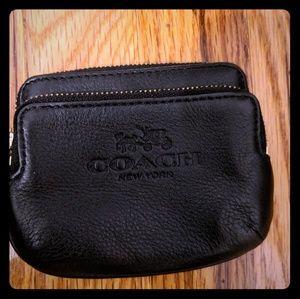 Coach Double zip change purse